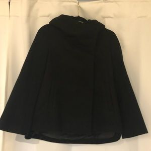Zara Wool-blend Black Coat